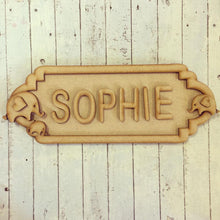 SS033 - MDF Elephants Theme Personalised Street Sign - Large (12 letters)