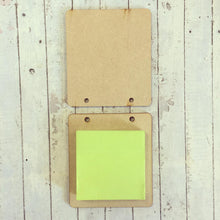 ST004 - MDF Sticky Pad Holder - 'A Little Note' (Not as seen in picture) - Olifantjie - Wooden - MDF - Lasercut - Blank - Craft - Kit - Mixed Media - UK