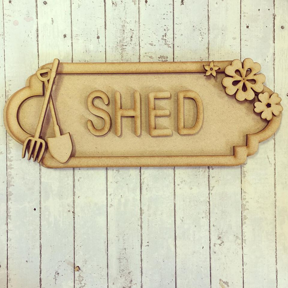 SS028 - MDF Gardening Theme Personalised Street Sign - Small (6 letters)