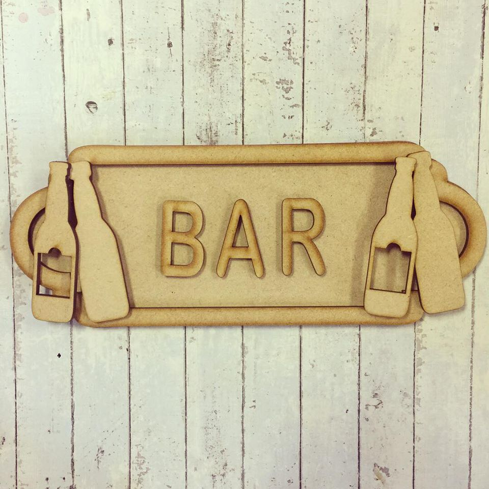 SS036 - MDF Bar Theme Personalised Street Sign - Small (6 letters)
