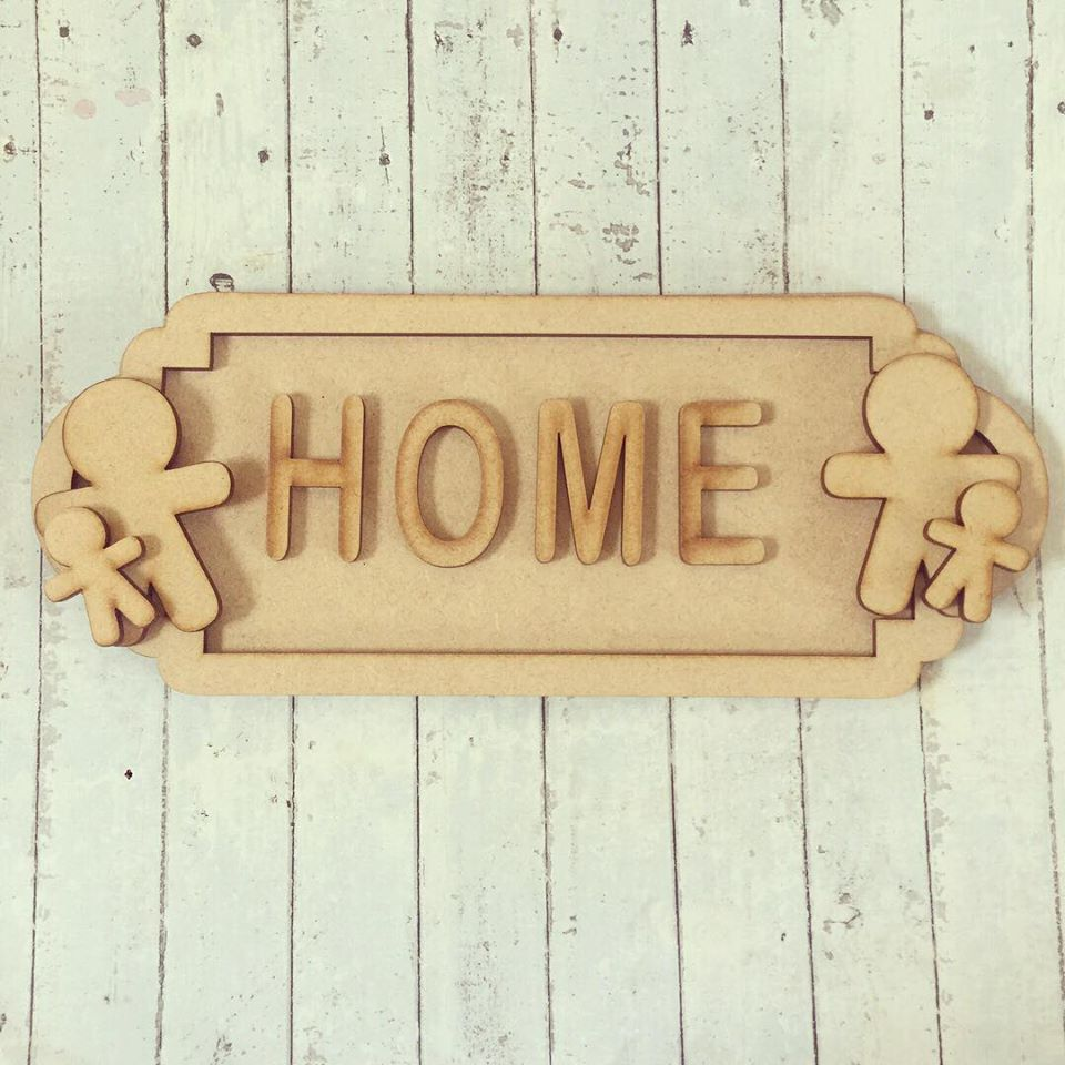 SS062 - MDF Gingerbread Themed Personalised Street Sign - Medium (8 letters)