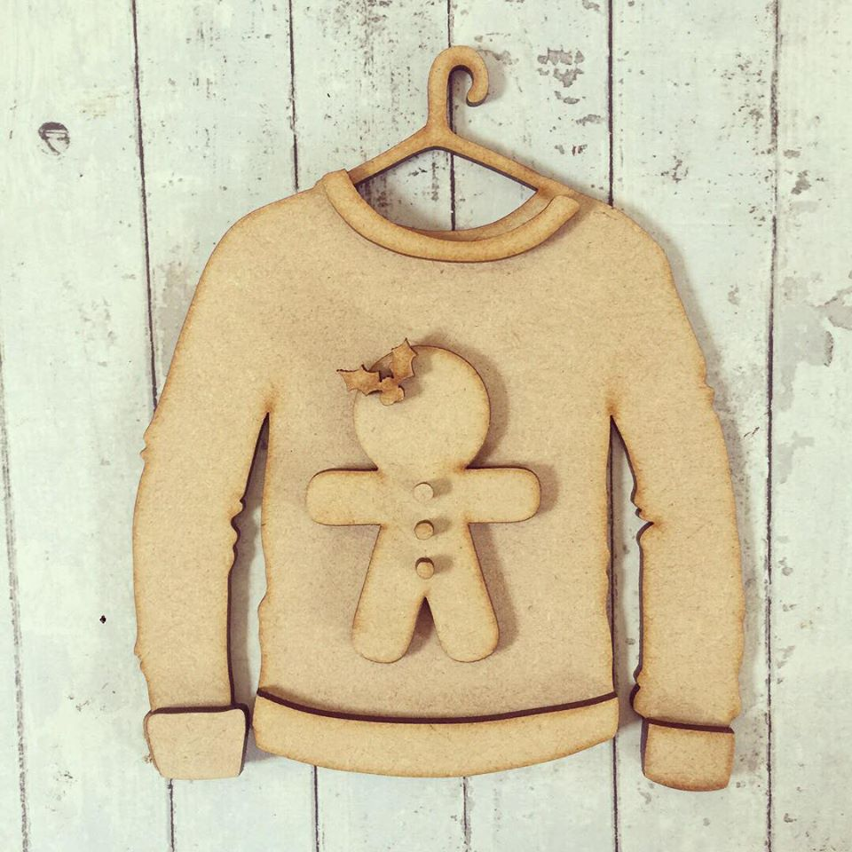 SJ070 - MDF Gingerbread Christmas Jumper