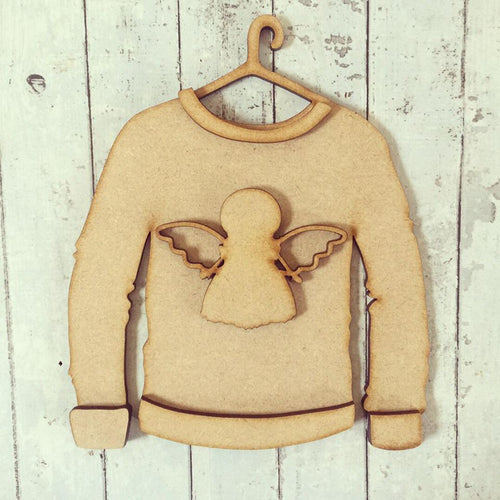 SJ069 - MDF Angel Christmas Jumper