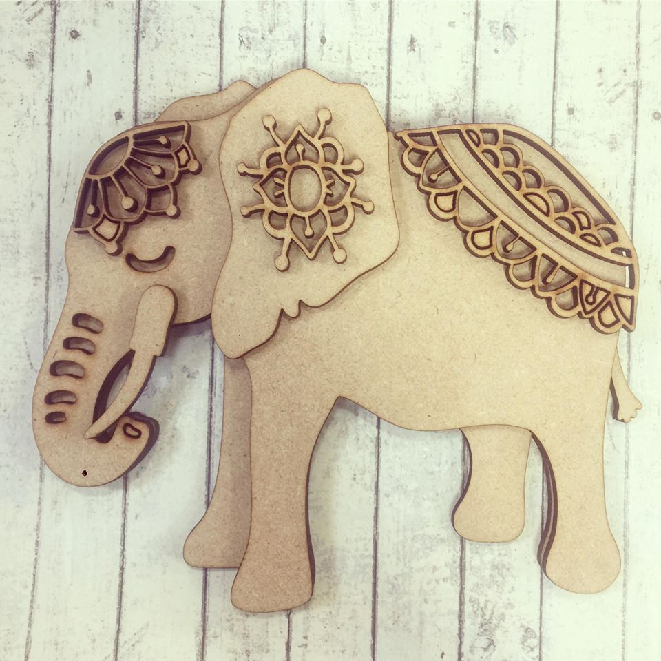 SJ083 - MDF Side Facing Elephant
