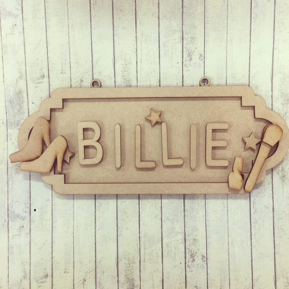 SS076 - MDF Makeup Girly Personalised Street Sign - Medium (8 letters)