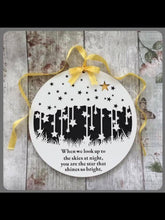 PL005 - MDF Round Stars 'Skies at Night' Memorial Plaque - Olifantjie - Wooden - MDF - Lasercut - Blank - Craft - Kit - Mixed Media - UK