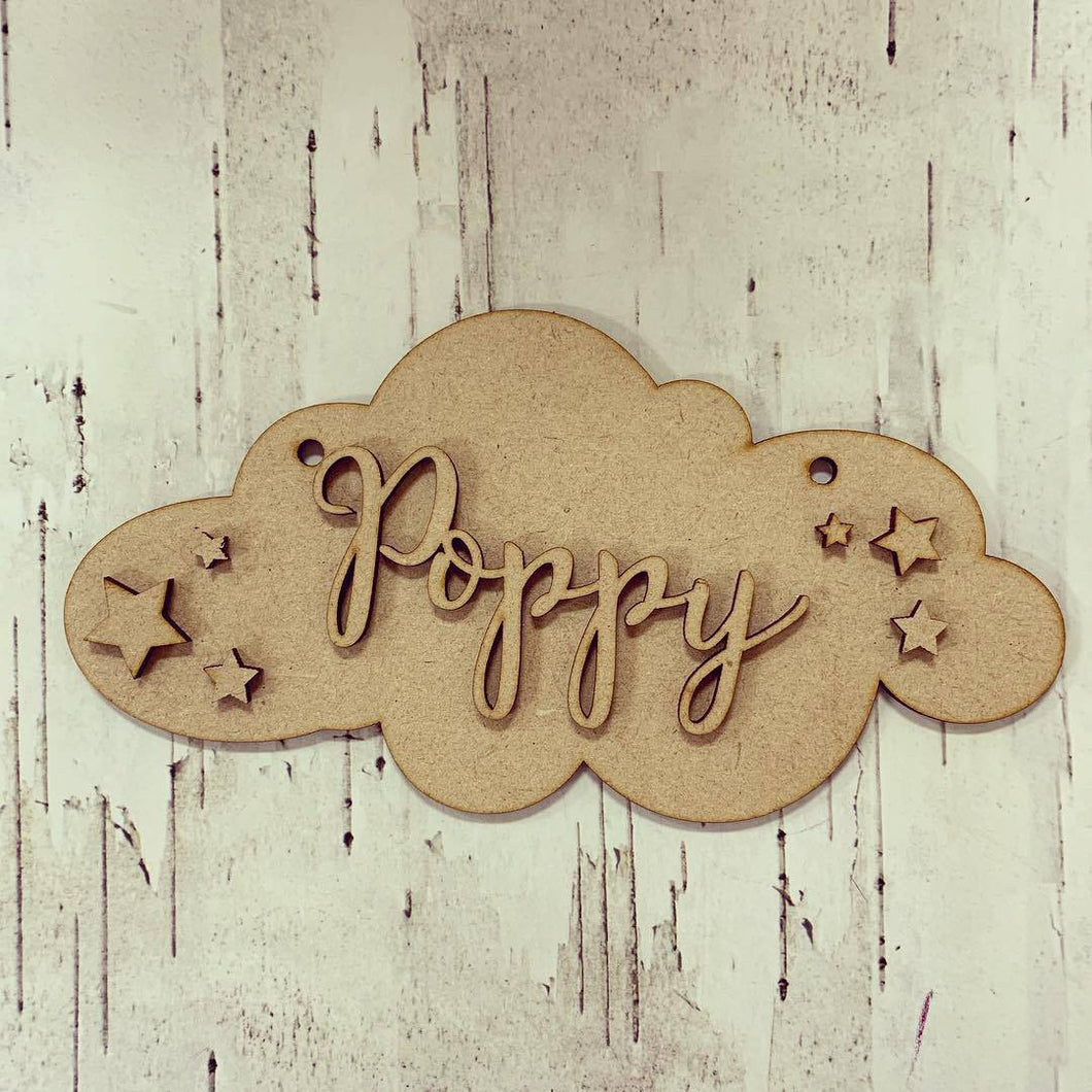OL285 - MDF Cloud personalised plaque