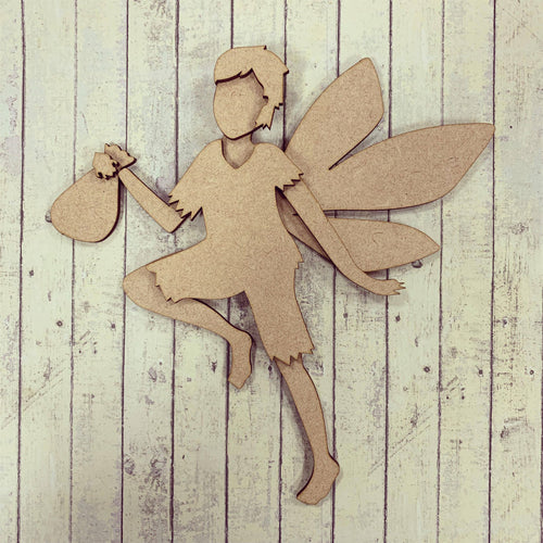 OL283 - MDF Boy Tooth Fairy - Hanging or Optional Hanging Back Plate