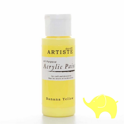Banana Yellow - Artiste Acrylic Paint 2oz