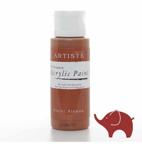 Burnt Sienna - Artiste Acrylic Paint 2oz