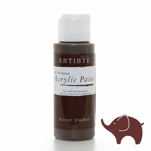 Burnt Umber - Artiste Acrylic Paint 2oz