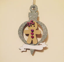 CH023 - MDF Ginger Bread Bauble with Banner