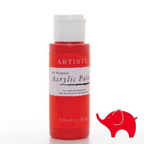 Cherry Red - Artiste Acrylic Paint 2oz