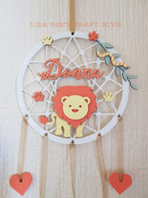 DC022 - MDF Lion Dream Catcher - with Initial, Initials, Name or Wording