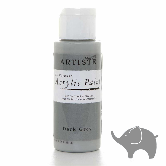Dark Grey - Artiste Acrylic Paint 2oz