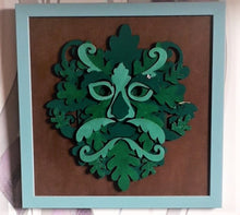 HC059 - MDF Greenman Main Man - Olifantjie - Wooden - MDF - Lasercut - Blank - Craft - Kit - Mixed Media - UK
