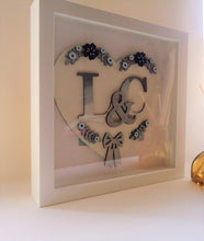 HH009 - MDF Personalised Floral Heart Hanging