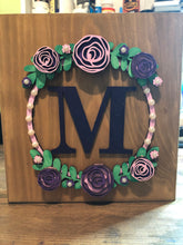 W010 - MDF Rose Floral Wreath - with Wording or initials