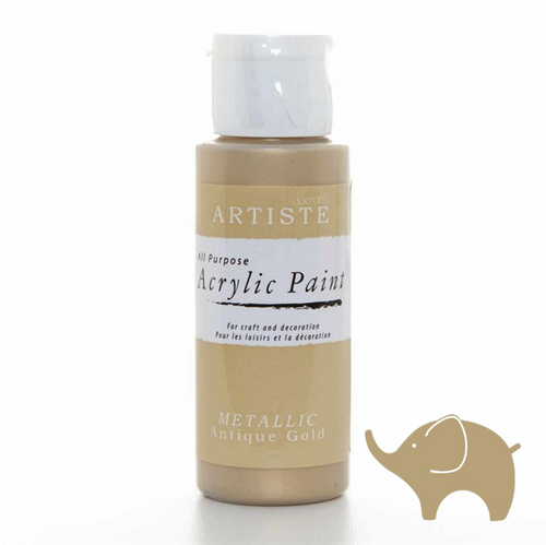 Metallic Antique Gold - Artiste Acrylic Paint 2oz
