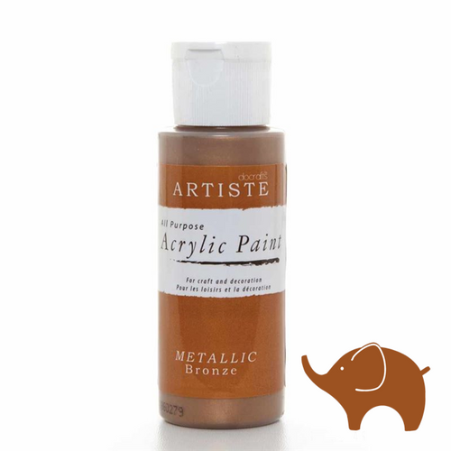 Metallic Bronze - Artiste Acrylic Paint 2oz