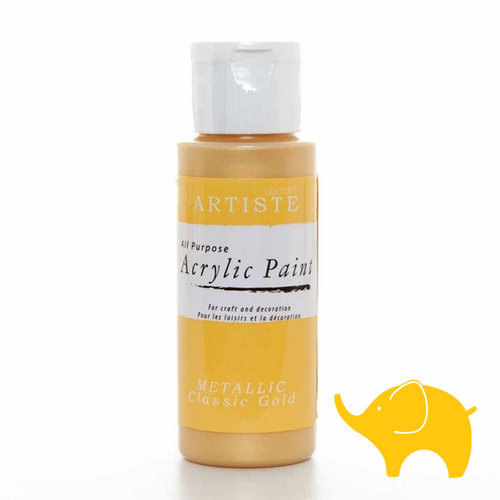 Metallic Classic Gold - Artiste Acrylic Paint 2oz