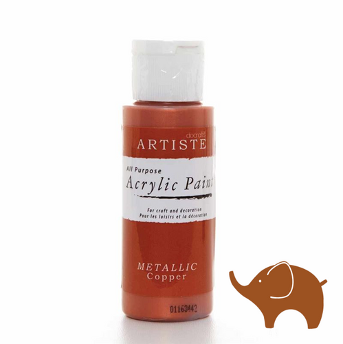 Metallic Copper - Artiste Acrylic Paint 2oz