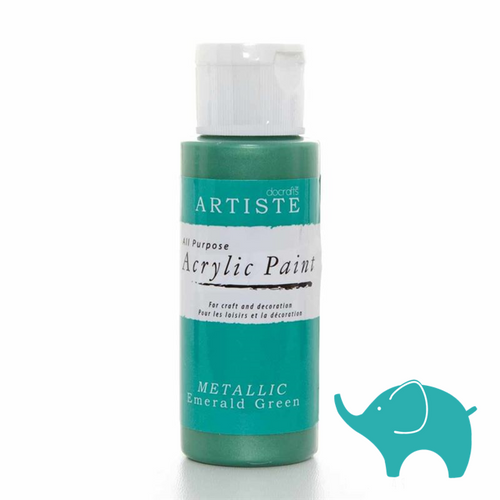 Metallic Emerald Green - Artiste Acrylic Paint 2oz