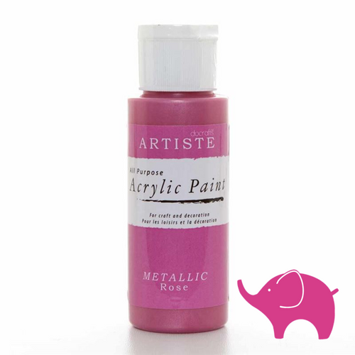 Metallic Rose - Artiste Acrylic Paint 2oz
