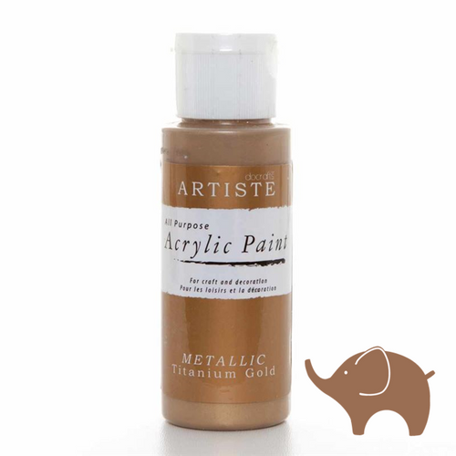 Metallic Titanium Gold - Artiste Acrylic Paint 2oz