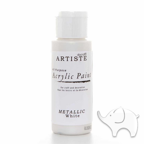 Metallic White - Artiste Acrylic Paint 2oz