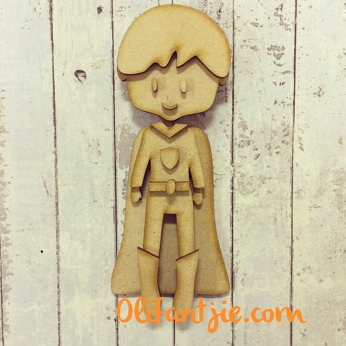 OL213 - MDF Super Boy / Man Hero Figurine - Set 4