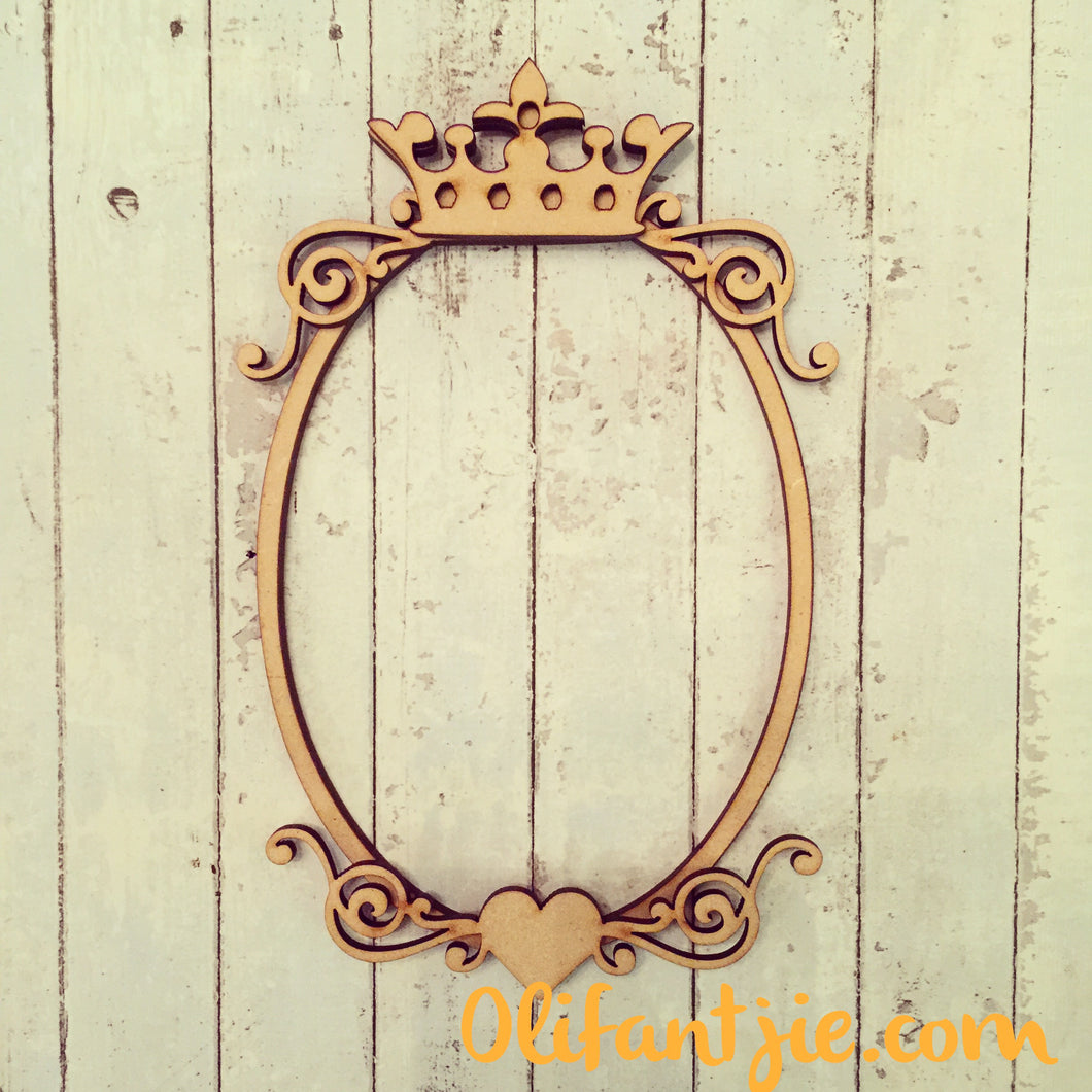 5480ce38fca FF001 - MDF Oval Crown Heart Flourish Frame – Olifantjie