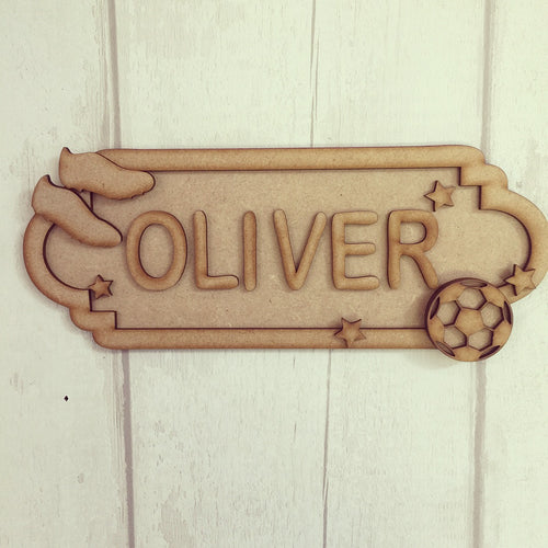 SS009 - MDF Football Theme Personalised Street Sign - Small (6 letters)