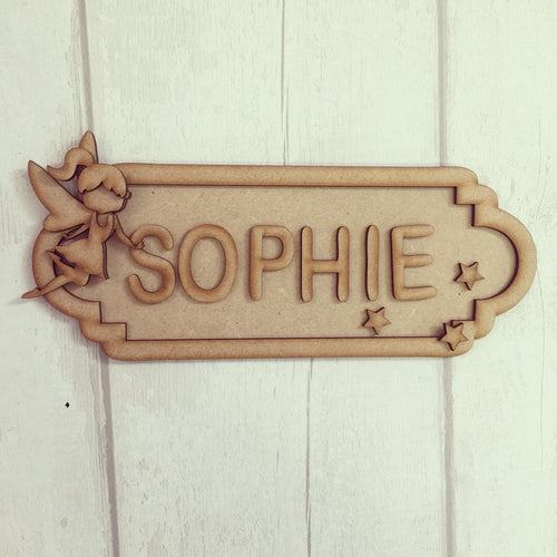 SS007 - MDF Fairy Theme Personalised Street Sign - Medium (8 letters)