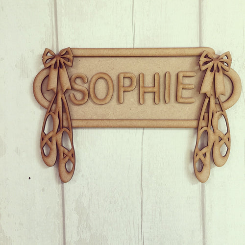 SS003 - MDF Ballet Theme Personalised Street Sign - Small (6 letters)
