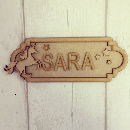 SS078 - MDF Unicorn Personalised Street Sign - Small (6 letters)