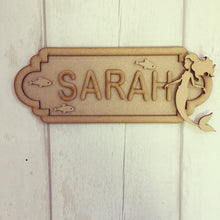 SS015 - MDF Mermaid Personalised Street Sign - Large (12 letters)