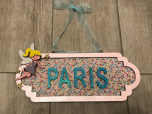 SS007 - MDF Fairy Theme Personalised Street Sign - Large (12 letters) - Olifantjie - Wooden - MDF - Lasercut - Blank - Craft - Kit - Mixed Media - UK