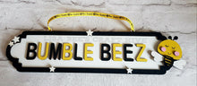 SS057 - MDF Bee Theme Personalised Street Sign - Large (12 letters)