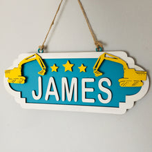 SS075 - MDF Digger Personalised Street Sign - Medium (8 letters)