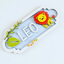 SS025 - MDF Lion Theme Personalised Street Sign - Medium (8 letters)