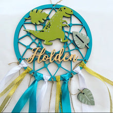 DC004 - MDF Dinosaur Dream Catcher - with Initial, Initials, Name or Wording