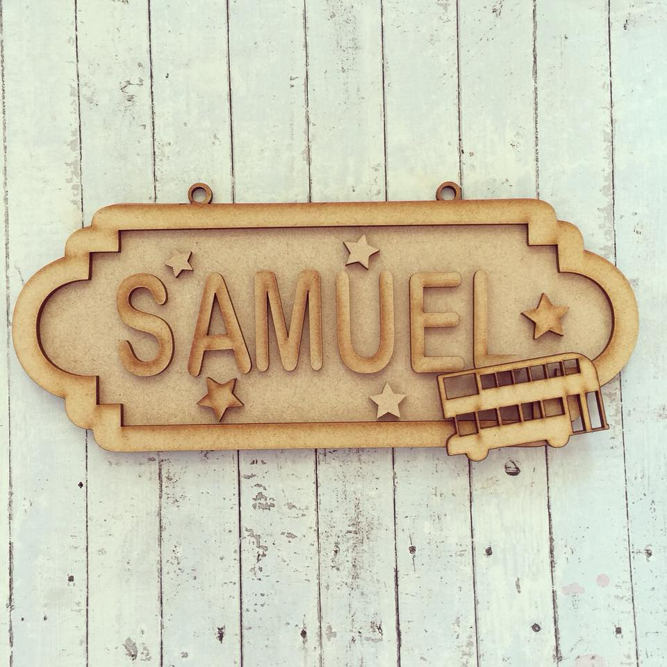 SS049 - MDF Bus Personalised Street Sign - Small (6 letters)