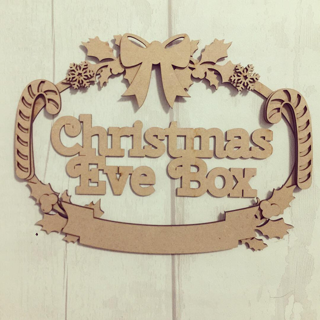 CH066 - MDF Oval Candy Cane, Holly and Snowflake Wreath - Two Sizes & Wording Choice - Olifantjie - Wooden - MDF - Lasercut - Blank - Craft - Kit - Mixed Media - UK