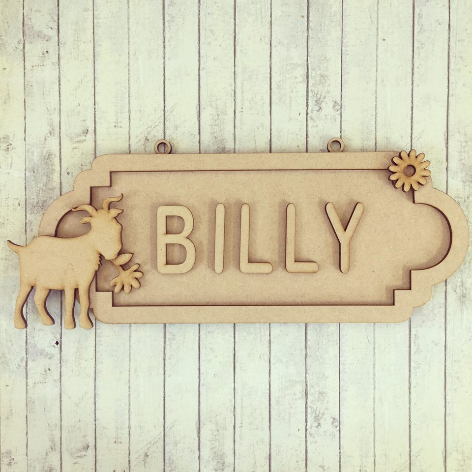 SS072 - MDF Goat Personalised Street Sign - Small (6 letters)