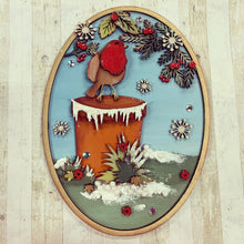 CH223 - MDF Robin Scenes Set Of Two Plaques