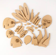 HC064 - 4 Freestanding Nordic Gnomes - Olifantjie - Wooden - MDF - Lasercut - Blank - Craft - Kit - Mixed Media - UK