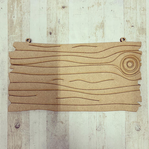 PL010 - MDF Drift Wood Effect - Hanging Blank