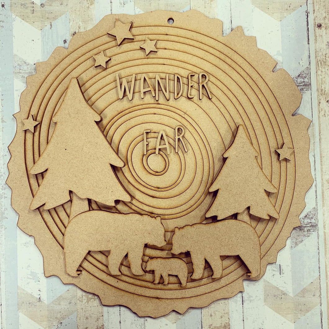 HC101 - MDF Layered 'Wander Far'  Plaque