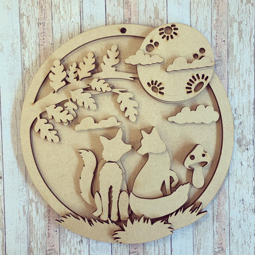OL404 - MDF Large Sarah Jane Fox Moon Plaque